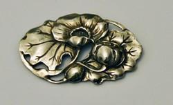 Régi szecessziós ezüst bross 800-as 14 g