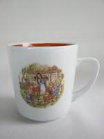 Hófehérke és a hét törpe mese bögre német Kahla porcelán gyerek csésze