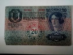1913-as 20 korona I. kiadás román fb
