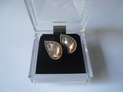 Régi kézműves ezüst-arany fülbevaló