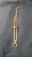Arany 14 karátos régi hibátlan állapotú óra vagy tiszti lánc