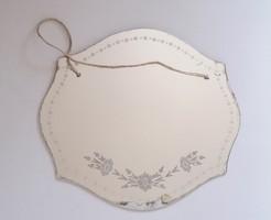 Régi tükör virágmintás vintage falitükör