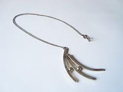Designer ezüst medál ezüst láncon