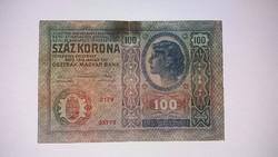 100 korona 1912-es kiadású bankjegy !!