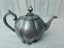 Viktoriánus stílusú antik ezüstözött táskanna James dixon & sons sheffield 2627