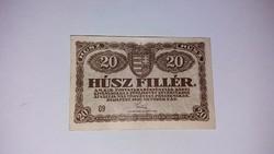 20 Fillér 1920 -as, Hajtatlan nagyon szép  állapotban !