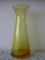 Méz színű üveg váza
