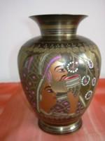 Rézötvözet váza