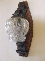 Régi kovácsoltvas fali lámpa