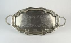 0O569 Jelzett ezüstözött John's kínáló tálca
