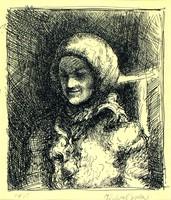 Halvax Gyula : Mosolygó menyecske 1930