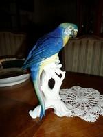 Nagyon ritka, nagy méretű ENS porcelán papagáj hibátlan állapotban eladó 26 cm