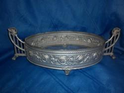 Antik fém kínáló asztalközép