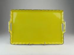 0O607 Victoria citromsárga porcelán kínáló tálca