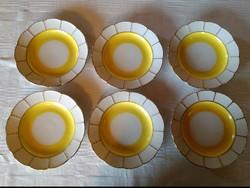 6 db Aquincum Hüttl Tivadar süteményes tányér