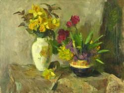 Iván Szilárd : Virágok 1955