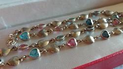 Turmalin,akvamarin aranyozott ezüst