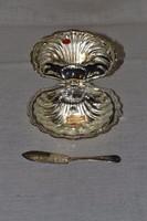 Ezüstözött kaviáros kínáló  01 ( DBZ 0071 )