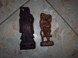 Fa szobrok párban Buddha