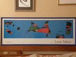 JOAN MIRÓ: 1993-as barcelona-i kiállítására készült műanyag reklám