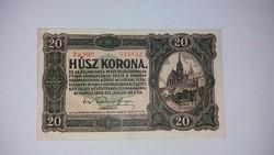 20 korona 1920 -as, nagyon szép ropogós  bankjegy!