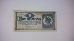 Egy  korona 1920 -as,  nagyon szép ,ropogós   bankjegy EF !