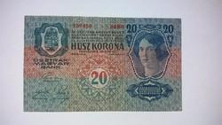 20 korona 1913 -as  nagyon szép ropogós  bankjegy!