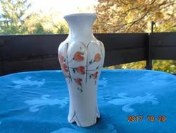 Kézzel festett aranyozott óarany rózsaszín virágmintás váza-17,5 cm