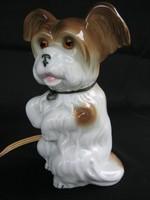 Kutya porcelán lámpa
