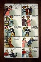 Szűzek tízparancsolata 10 képes humor képeslap 1900 körüli