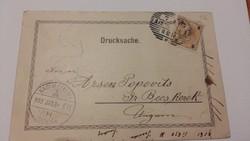 Nagybecskerek 1903 Pecsételéssel, 3 Helleres bélyeggel.