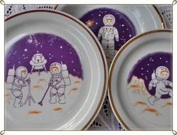 Zsolnay porcelán gyerek tányér készlet.