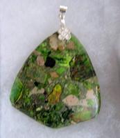 Natur ammolit medál ezüst függesztővel