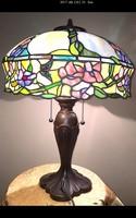 Virágos - Pillangós Tiffany lámpa 40 cm-es búrával.