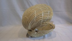 Zsűrizett iparművész majolika kagyló lámpa