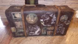 Régi koffer bőrönd ... fbabf7ff1a