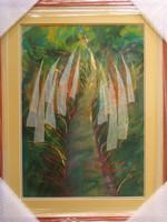 """Illényi Tamara """"Út"""" c. különleges selyemakvarellje gyűjteményből eladó"""
