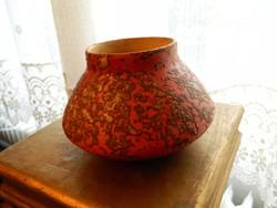 Tófej iparművészeti retro kerámia váza