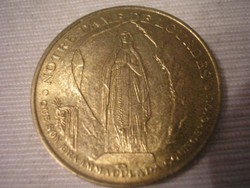 Lourdes zarándok érme Ú1