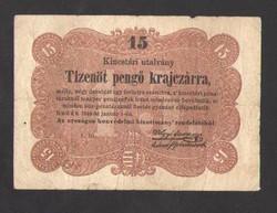 "Tizenöt pengő krajczárra 1849.  ""t. to."" betűjeles!!  SZÉP BANKJEGY!!"