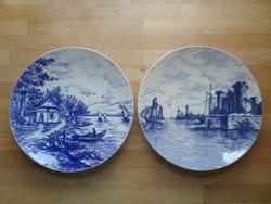 2 db antik Villeroy & Boch Wallerfangen fajansz tányér falitányér dísztányér