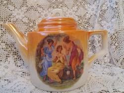 Antik Zsolnay jelenetes teáskanna