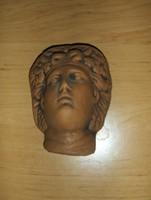 Terrakotta görög arckép 7,5*10 cm (j-2)