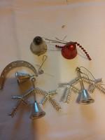 5 db retró karácsonyfa dísz csengettyű