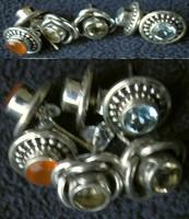 925 ezüst fülbevaló különböző kövekkel, lehet választani