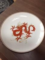 Régi nagy méretű Wallendorf sárkány mintás porcelán tányér