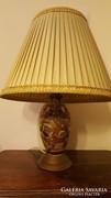 Nagy antik Keleti mintás porcelán lámpa