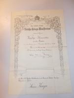 1897 Kassa Ferenc József  leszerelő hadi dokumentum