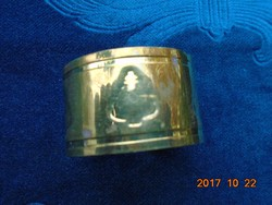 Fenyő mintával fényes réz szalvéta gyűrű