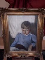Berény Róbert: Olvasó kisfiú